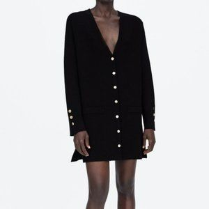 NWT Zara Black Cardigan Sweater